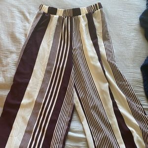 Forever 21 cropped crepe striped pants